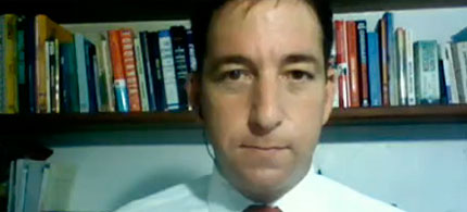 Video image Glenn Greenwald appearing on Democracy Now!, 12/07/10. (video image: Democracy Now!)