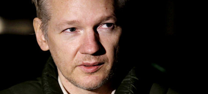 Julian Assange, founder of WikiLeaks, 12/24/10. (photo: AP)