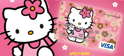 Visa Hello Kitty credit card promo. (art: Visa)