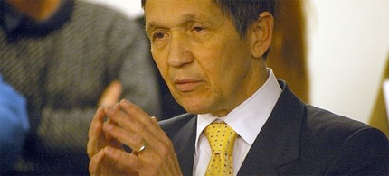 corporate interests tried to derail and assasinate Kucinich