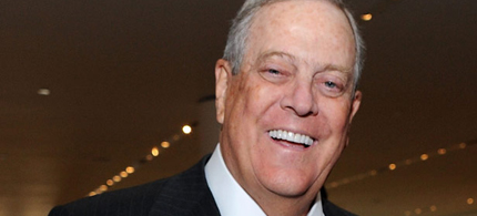 Billionaire right-wing activist David Koch, 03/08/11. (photo: Jason Kempin/Getty Images)