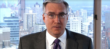 Keith Olbermann announces his show, 04/26/11. (image: FOK News Channel)