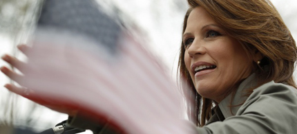 Rep. Michele Bachmann speaks at the Tea Party Patriots 'Continuing Revolution' rally on Capitol Hill, 03/31/11. (photo: Kevin Lamarque/Reuters)