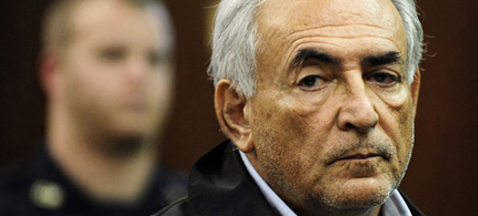 Dominique Strauss-Kahn, head of the IMF, is arraigned on charges he sexually assaulted a hotel maid, 05/16/11. (photo: Emmanuel Dunand/AP)