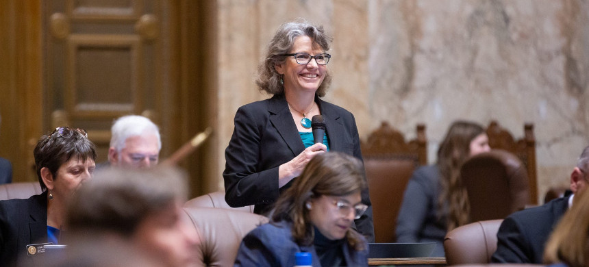 Beth Doglio convenes for floor debate at the Washington State House of Representatives on Feb. 12, 2020. (photo: Beth Doglio Campaign)