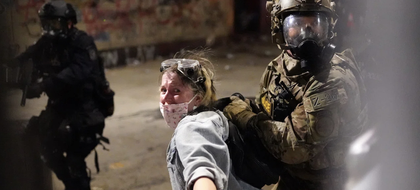 'The independent watchdogs for the U.S. justice and homeland security departments said on Thursday they were launching investigations into the use of force by federal agents.' (photo: TR)