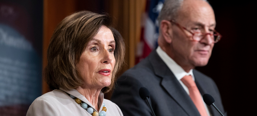 Speaker Nancy Pelosi and Sen. Chuck Schumer. (photo: AP)