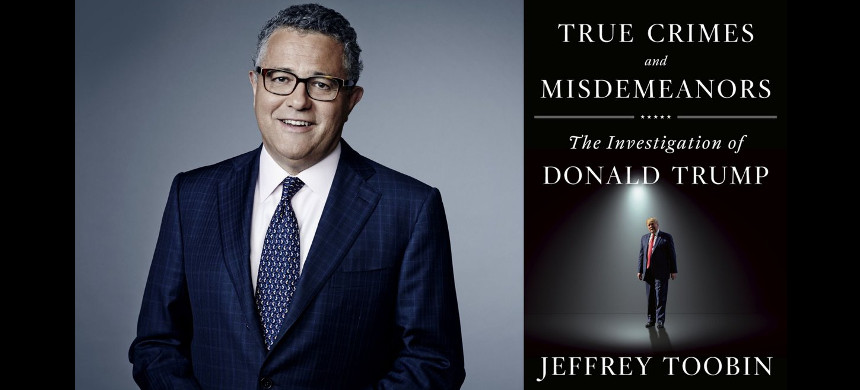 Jeffrey Toobin has released a new book called 'True Crimes and Misdemeanors'. (photo: Twitter)
