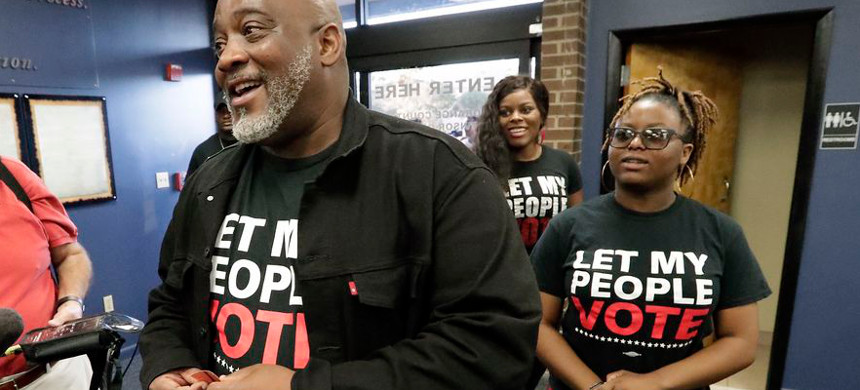 Former felon Desmond Meade and president of the Florida Rights Restoration Coalition. (photo: John Raoux/AP)