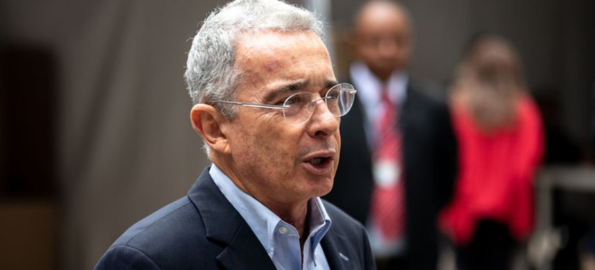 Colombia's former president Alvaro Uribe. (photo: Tomas Ayuso/Bloomberg)