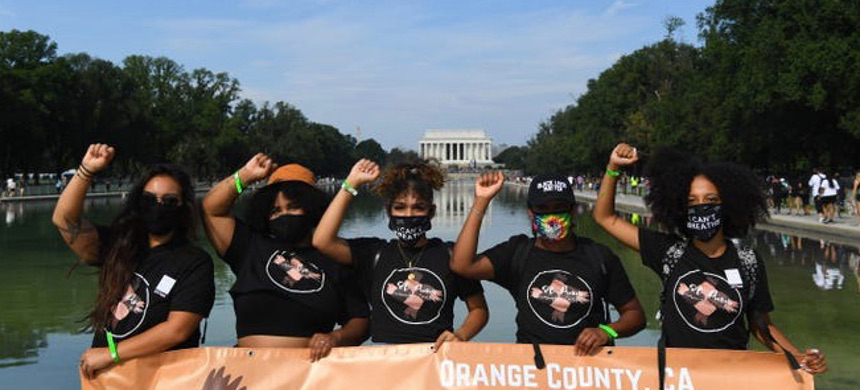 People gather at the 'Get Off Our Necks' Commitment March on Washington on August, 28, 2020. (photo: Jack Gruber/USA TODAY)