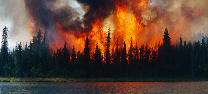 The Arctic is burning. (photo: Daryl Pederson/Getty Images)