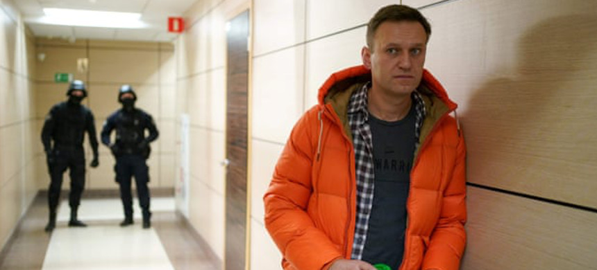 Alexei Navalny pictured in December. He was taken to a hospital in Omsk and later transferred to Berlin. (photo: Dimitar Dilkoff/Getty)