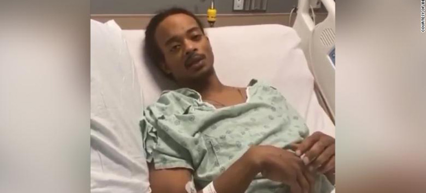 Jacob Blake in his hospital bed. (photo: CNN)