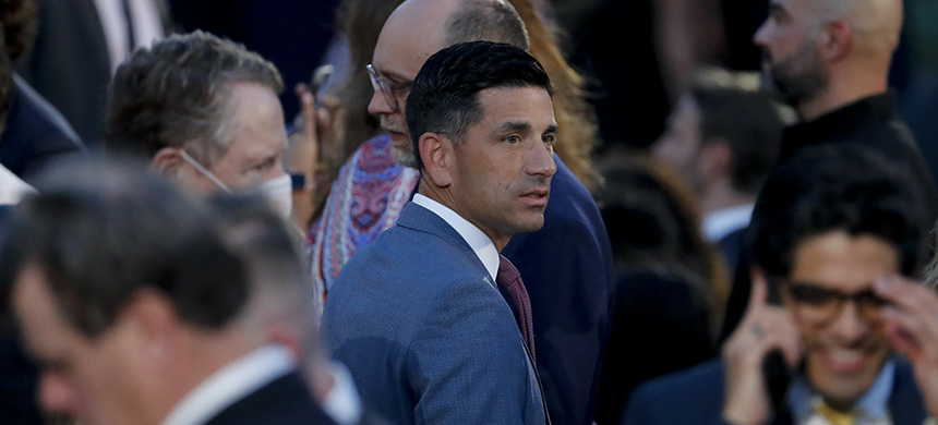 Chad Wolf, acting secretary of the Department of Homeland Security, attends the Republican National Convention on the South Lawn of the White House in Washington, D.C., on Aug. 27, 2020. (photo: Al Drago/Bloomberg/Getty Images)