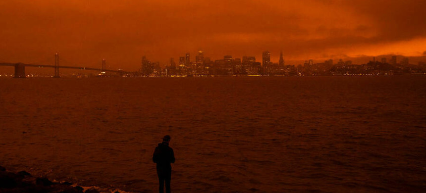 The San Francisco skyline seen from Treasure Island on September 9, 2020 in San Francisco, California. (photo: Philip Pacheco/Getty)