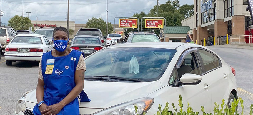 LaShenda Williams had been living in her car parked in the Kroger parking lot before she was hired by the store. (photo: The Kroger Co.)