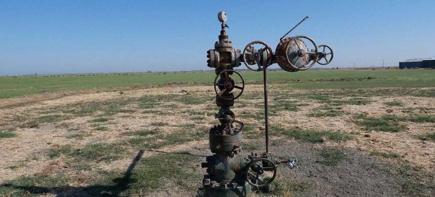 Gas well No. 095-20708, 4 miles north of Rio Vista, California, in 2017. (photo: Lisa Vielstadte)