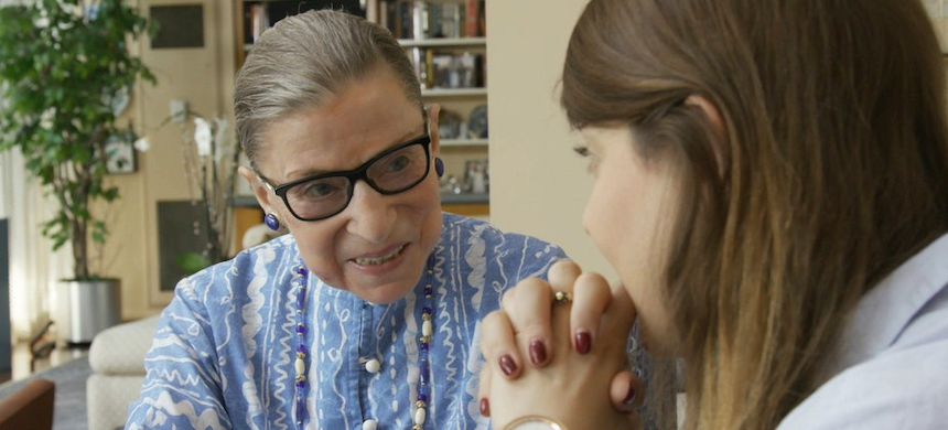 Ruth Bader Ginsburg and her granddaughter Clara Spera. (photo: Magnolia Pictures)