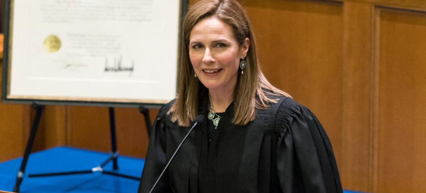 Amy Coney Barrett is seen as a favorite to be nominated by Trump to replace Justice Ruth Bader Ginsburg on the Supreme Court. (photo: Julian Velasco)