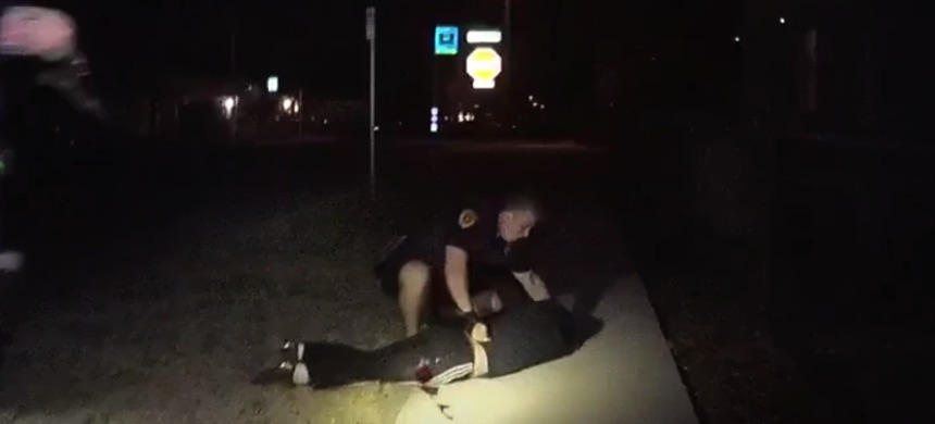 A still from the bodycam footage release by the Salt Lake City Police Department. (photo: YouTube)