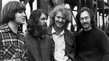 Creedence Clearwater Revival circa 1970.  Fortunate Son is an enduring Vietnam era anti-war icon. (photo: CCR)