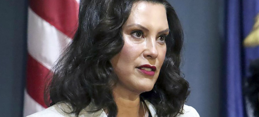 Governor Gretchen Whitmer of Michigan: 'This White House has a duty to call it out and they won't do it - in fact, they encourage it.' (photo: AP)