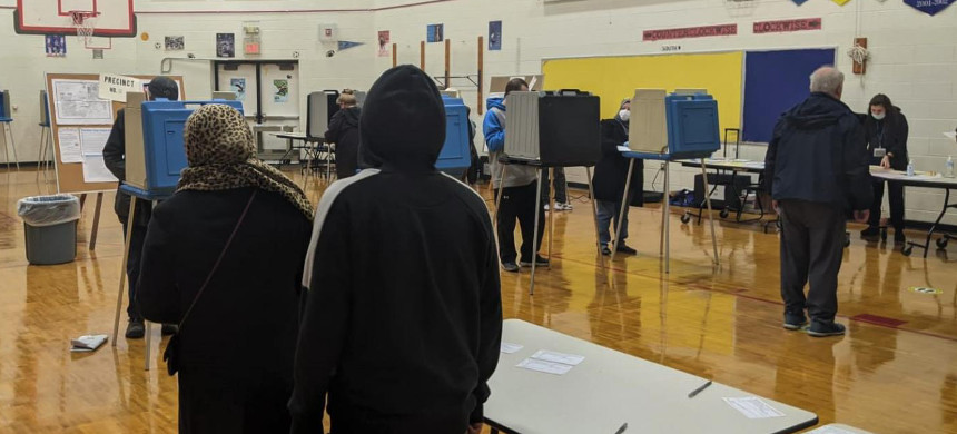 Turnout increased across predominantly Arab neighbourhoods in Dearborn, Michigan. (photo: Ali Harb/MEE)