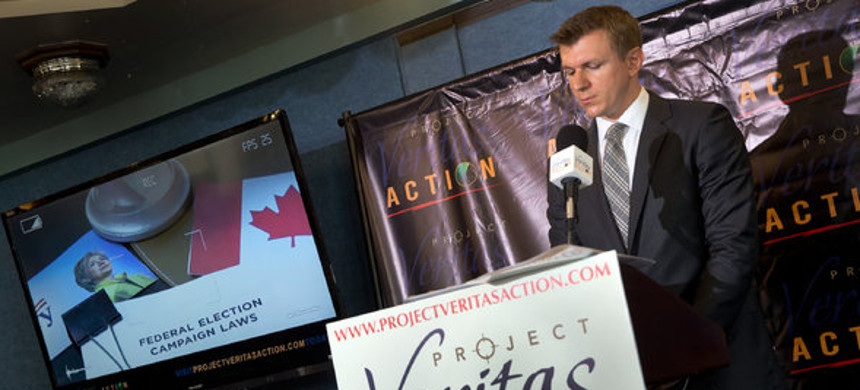 James O'Keefe of Project Veritas Action, a right-wing organization with a history of fabricating claims. (photo: Stephen Crowley/The New York Times)