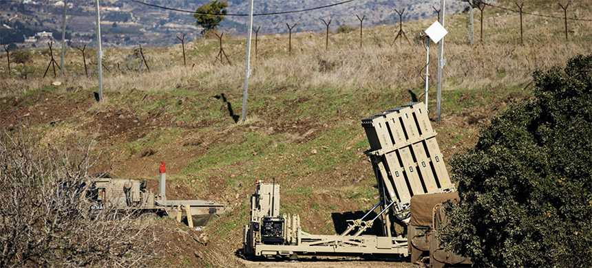 An Iron Dome anti-missile system in Golan Heights. (photo: Hamad Almakt/Reuters)