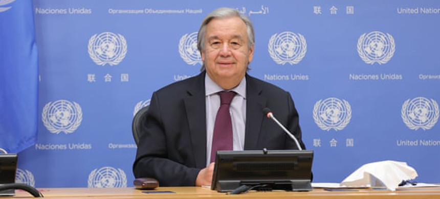 The United Nations secretary general, António Guterres, at the G20 summit on 20 November 2020. (photo: Europa Newswire)