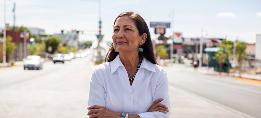 Rep. Deb Haaland would be the country's first Native American Cabinet secretary. She opposed many Trump environmental rollbacks on public lands and considers climate change 'the challenge of our lifetime.' (photo: Juan Labreche/AP)