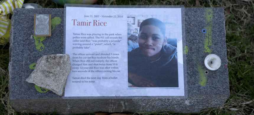 The Justice Department announced Tuesday it would not bring federal criminal charges against two Cleveland police officers in the 2014 killing of 12-year-old Tamir Rice. (pictured in a memorial). (photo: Jazqueline Larma/AP)