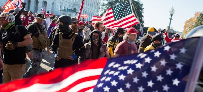 Proud Boys and other protesters gather in Washington, D.C. (photo: Getty Images)