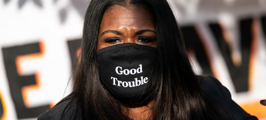 Rep. Cori Bush. (photo: Drew Angerer/Getty Images)