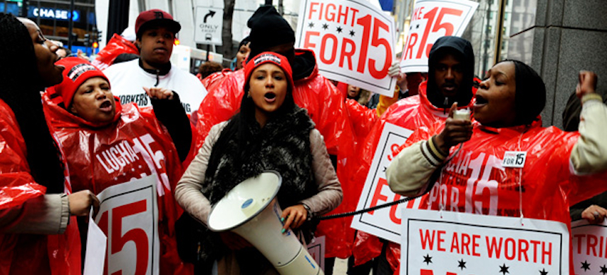 'The Fight for $15 movement now stands perilously close to winning one of the biggest worker-led rights victories in decades.' (photo: Kira Page/CoCo)