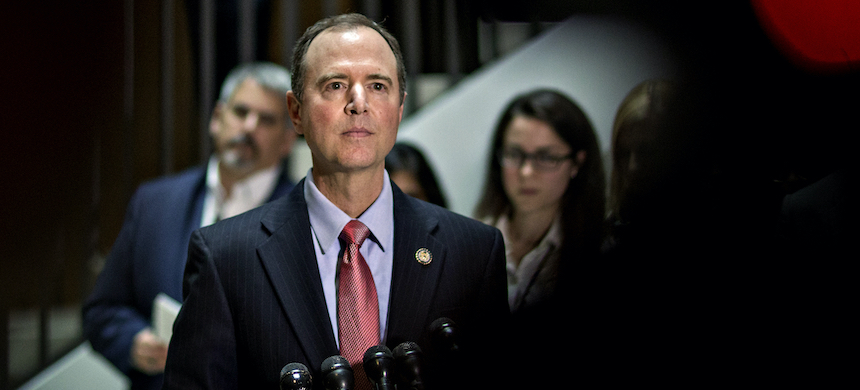 Adam Schiff at a news conference on Capitol Hill. (photo: Andrew Harrer/Getty Images)