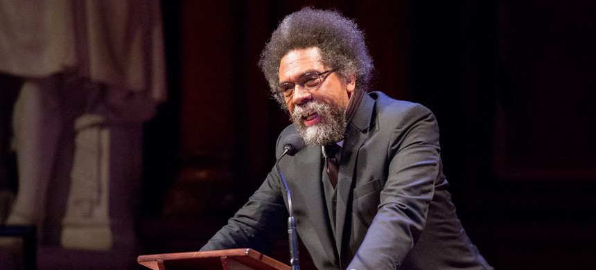 'I wasn't raised to put up with being disrespected or tolerate disrespect,' Cornel West said. (photo: Boston Globe)