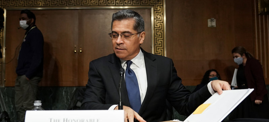 Xavier Becerra, seen here during his February confirmation hearing, has been confirmed by the U.S. Senate as the Secretary of Health and Human Services. (photo: Greg Nash/Getty)