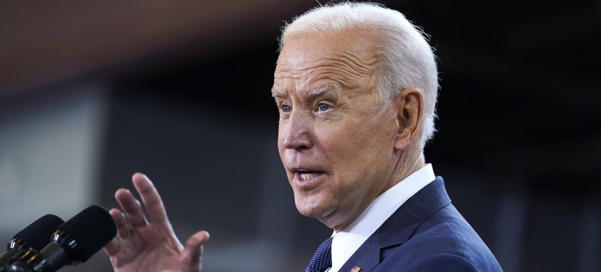 President Joe Biden pledged during the 2020 campaign to scrap the Trump administration's changes to Title IX. (photo: Evan Vucci/AP)
