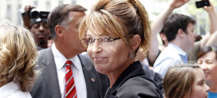 Sarah Palin leaves Fox News Headquarters in New York, 06/01/11. (photo: Reuters)