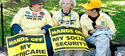 Many older Americans, including these in Washington last fall, oppose cuts to federal entitlement programs. (photo: AFP/Getty Images)