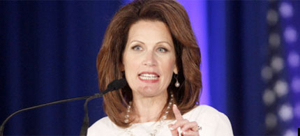 Michele Bachmann suggested that President Obama secretly wanted Medicare to go bankrupt so retirees would be forced to enroll in 'Obamacare.' (photo: AP)