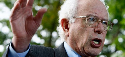Vermont Senator Bernie Sanders addresses the issue of deficit reduction, 06/28/11. (photo: LA Times)