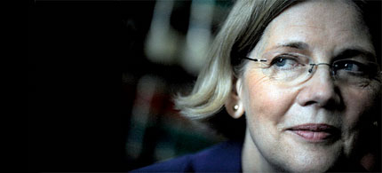 Elizabeth Warren will not lead the agency she envisioned, The Consumer Financial Protection Bureau. (photo: Mary F. Calvert/NYT/Redux)