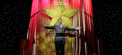 Texas Gov. Rick Perry speaks to the first general session of the 2010 Republican Party of Texas Convention in Dallas. (photo: LM Otero/AP)
