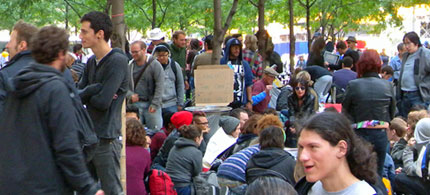 Occupy Wall Street's 'Freedom Plaza,' 09/19/11. (photo: Cate Woodruff/Reader Suppported News)