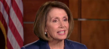 House Minority Leader Nancy Pelosi appearing on ABC News, 10/09/11. (photo: ABC News)