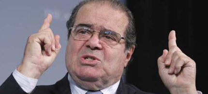 Supreme Court Justice Antonin Scalia speaks to a policy forum in Washington. (photo: Manuel Balce Ceneta/AP)
