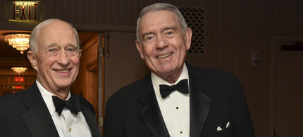 First Amendment lawyer James Goodale with Dan Rather, recipient of the Burton Benjamin Memorial Award, at the Waldorf Astoria, 11/22/11. (photo: Amanda Gordon/Bloomberg)